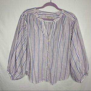 Loft oversized button down blouse M